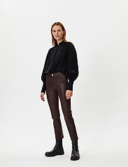 2NDDAY - 2ND Leya - leather trousers - chocolate plum - 0