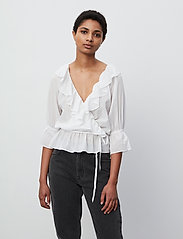 2NDDAY - 2ND Maureen ThinkTwice - long sleeved blouses - bright white - 0