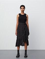 2NDDAY - 2ND Mora Dot ThinkTwice - midi skirts - black - 0