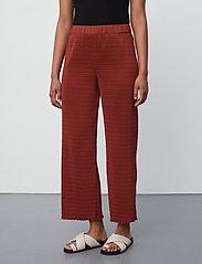 2NDDAY - 2ND Elmira - bukser med brede ben - henna - 0
