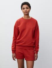 2NDDAY - 2ND Sweat Thinktwice - sweatshirts & hættetrøjer - red ochre - 0