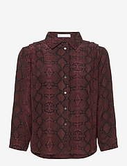 2NDDAY - 2ND Rosewood Snake - long-sleeved shirts - chocolate plum - 1