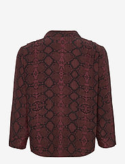 2NDDAY - 2ND Rosewood Snake - long-sleeved shirts - chocolate plum - 2