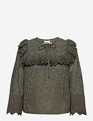 2NDDAY - 2ND Cork Thinktwice - long sleeved blouses - understated black - 0