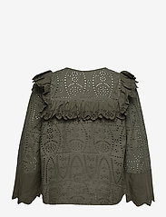 2NDDAY - 2ND Cork Thinktwice - long sleeved blouses - understated black - 1