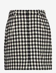 2NDDAY - 2ND Chariton Check - short skirts - black - 2