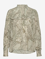 2NDDAY - 2ND Edition Gayle Oyster - long sleeved blouses - oyster field - 0