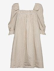 2NDDAY - 2ND Tiana Stripe - midi dresses - taos taupe - 1