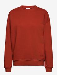 2NDDAY - 2ND Sweat Thinktwice - sweatshirts & hættetrøjer - red ochre - 1