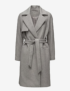 2ND Livia - wool coats - light grey mel.