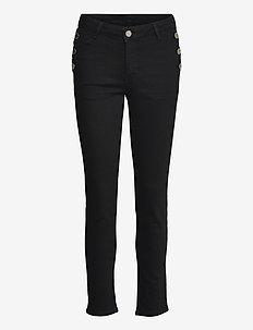 2ND Sally Cropped Sailor - slim jeans - black denim