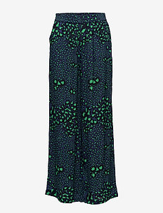 2ND June Printed - wide leg trousers - sodalite blue