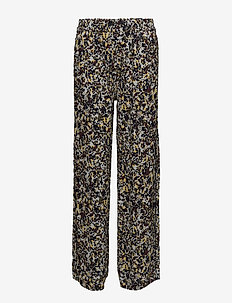 2ND Dott Printed - wide leg trousers - sky light blue