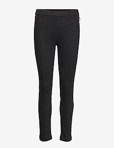 2ND Jeanett Leopard - jeans skinny - black denim