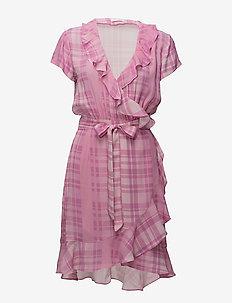 2ND Elly Printed - wrap dresses - cradle pink