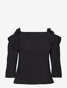 2ND Paula - blouses med lange mouwen - black