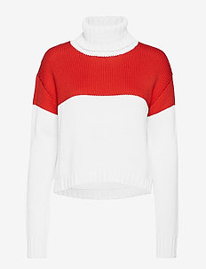 2ND Jennifer - turtlenecks - poppy red