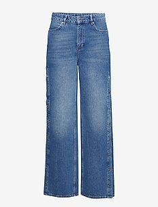 2ND Maia - pantalons larges - indigo stone enzyme