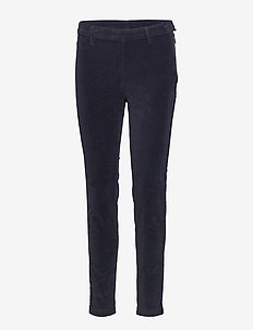 2ND Jeanett Velvet - straight leg trousers - black