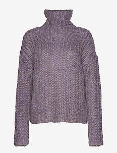 2ND Stardust - turtlenecks - paisley purple