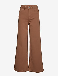2ND Frecla - wide leg trousers - golden camel