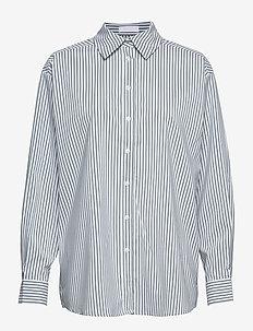 2ND Floyd Stripe - langermede skjorter - posy green