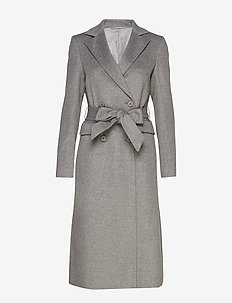 2ND Dusterly - wool coats - medium grey mel.