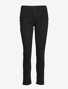 2ND Sally Cropped Onyx - BLACK DENIM