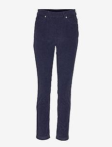 2ND Jeanett Cord - broeken med straight ben - navy blazer