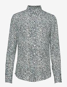 2ND Anastasia Springle - blouses med lange mouwen - atlantic deep