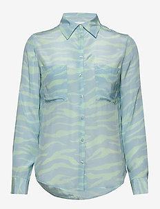 2ND Gwen Zebra - chemises à manches longues - brook green