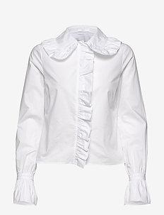 2ND Windy - blouses med lange mouwen - white