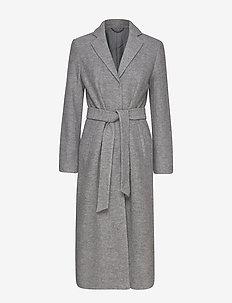 2ND Eve - manteaux en laine - light grey mel.