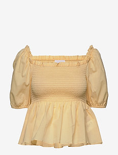 2ND Vilde - short-sleeved blouses - golden fleece