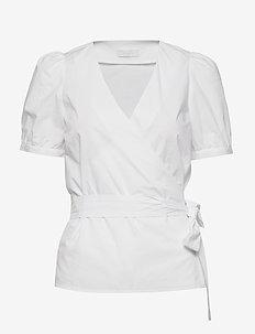 2ND Janice - short-sleeved blouses - white