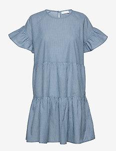 2ND Loretta Stripe - korte jurken - navy blazer