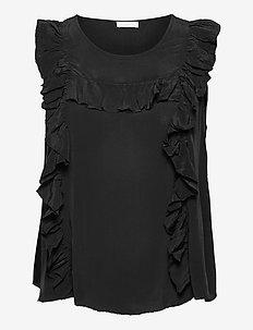 2ND Gwen - sleeveless tops - black