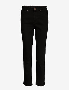 2ND Riggis Comfort ThinkTwice - broeken med straight ben - black denim