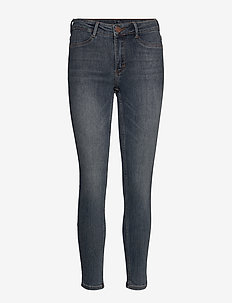 2ND Jolie Cropped - skinny jeans - mid blue