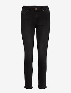 2ND Sally Cropped ThinkTwice - skinny farkut - un black denim