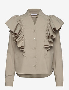 2ND Carina ThinkTwice - blouses med lange mouwen - laurel oak