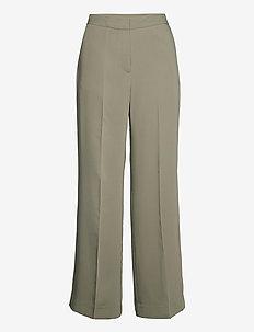 2ND Chrissy - bukser med brede ben - laurel oak