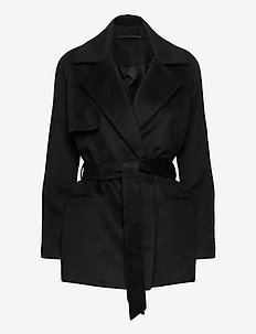 2ND Lana - wool jackets - black