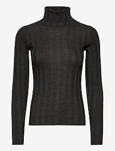 2ND Molly - turtlenecks - dark grey mel.