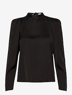 2ND Bastian - long sleeved blouses - black