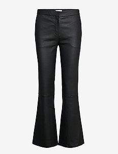 2ND Mauser - leather trousers - black
