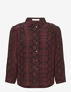 2ND Rosewood Snake - long-sleeved shirts - chocolate plum