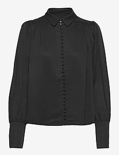 2ND Aileen Thinktwice - long sleeved blouses - black