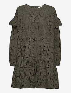2ND Hazelnut Thinktwice - midi dresses - understated black