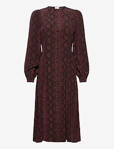 2ND Marcia Snake - robes midi - chocolate plum